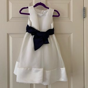 NWT Beautiful Formal Dress - Navy & White- Size 4T